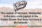 Vermont, You Say?