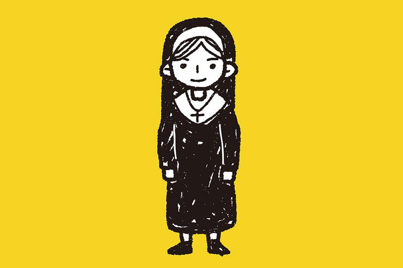 Nun in Hooters